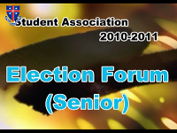 Student Association Election Forum 2010 (Seniors)
