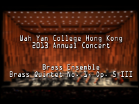 WYHK 2013 Annual Concert Brass Ensemble